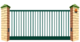 Рама откатных ворот Решетка на проем 9000мм х 2400мм