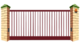 Рама откатных ворот Решетка на проем 5500мм х 2400мм