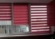 Рулонные шторы день ночь мини. Латина красный 1804